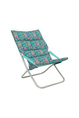 Mountain Warehouse Folding Soft Padded Armchair - Patterned Large Chair