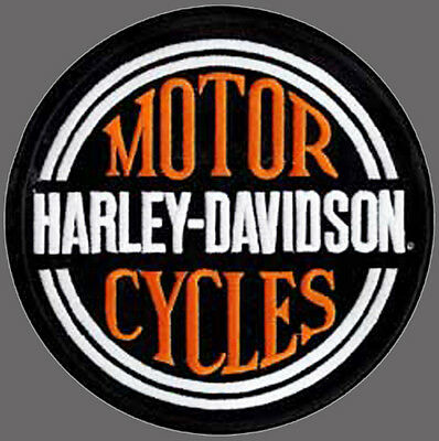 Harley Davidson Circle Name 7 3/4 Inch Large Harley  Patch