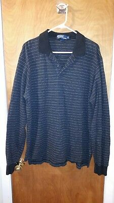 106fbe4542 Vintage Chaps Ralph Lauren Rugby Polo XL shirt long sleeve pullover sweater