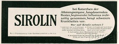 1915 Ad SIROLIN Remedy Anti Influenza Remedy
