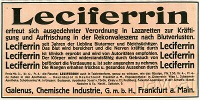 1915 Ad LECIFERRIN Remedy for Convalescence Recovery