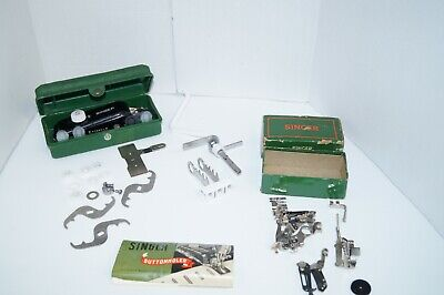 Vintage Singer Buttonholer #160506 And Extras