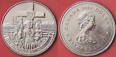 Brilliant Uncirculated 1984 Canada Cartier 1 Dollar From Mint's Roll