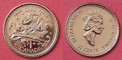 Proof Like 2000 Canada Pride 25 Cents From Mint's Set