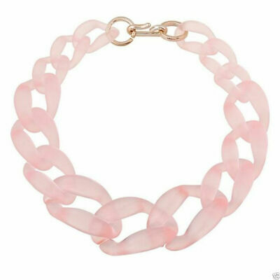 Female Chic Vogue Jewelry Acrylic Gritty Circle Link Chunky Chain Necklace