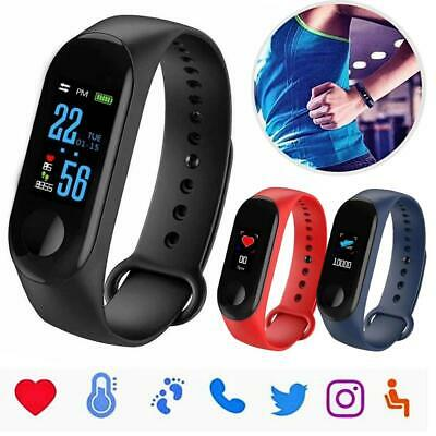 Sport Pedometer Smart Watch Bracelet Wristband Fitness Tracker Blood Pressure US