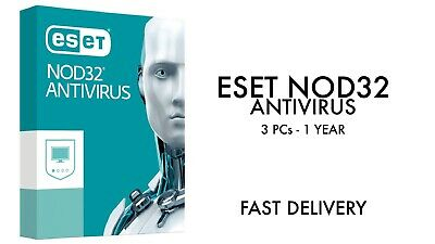 ESET NOD32 Antivirus 2019 3 PC , 1 Year, GLOBAL, ESD Antivirus