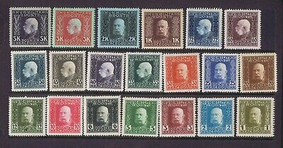 Bosnia Austria Hungary 1912 lot of 20 stamps to 5K light mounted mint MLH