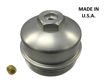 FORD POWERSTROKE 6.0L DIESEL - OIL FILTER CAP/TOOL - aluminum - Anodized clear