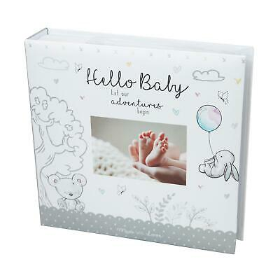 Baby First Photo Album 4x6'' 200 Photos Memo White Unisex Birthday Christening