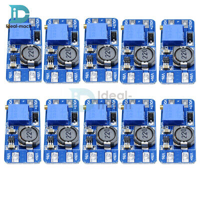 10PCS MT3608 DC-DC 2A Converter Module Step Up Boost Booster Power 2-24V Input