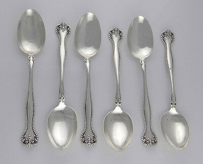 ALVIN MFG CO STERLING SILVER 1900 RALEIGH 6 TEASPOON SET 310g