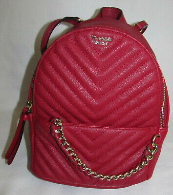 f588658ac9cf0 VICTORIA SECRET PEBBLED V-Quilt Small City Backpack IN HOT PINK BNWT ...