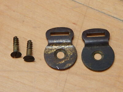 Vintage Pair Of Singer Sewing Machine Parts Base Securing Clips