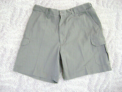 b3953833aa Harbor Bay Continous Comfort Waistband Cargo Gray Shorts Size 42 Excellent