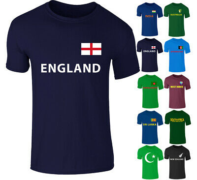 New Mens England 2019 Cricket World Cup Fan Supporters T-shirt Top Tee S-XXL