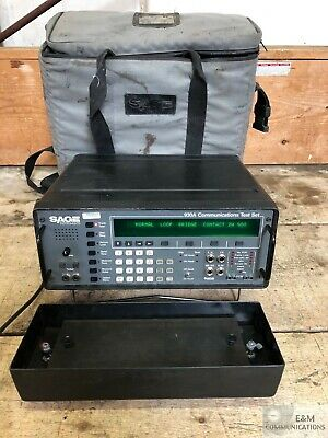 930A Sage Instruments Communication Test Set With Case And Ac Power Cable