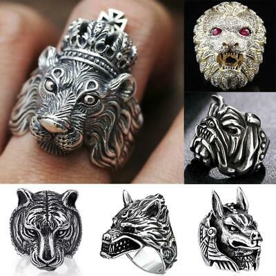 Gothic Punk Ring For Men Retro Male Rings