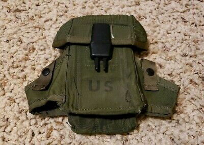 US Military Army OD Small Arms Ammo Pouch Case 3 Mag Magazines EXCELLENT