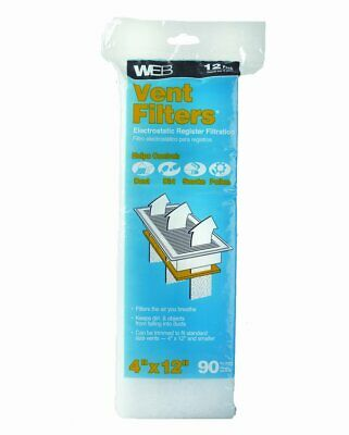 Air Vent Filters Pack Of 12 Register Vent Filters High Quality Floor Vent Filter