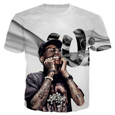 Summer Hot Sale Women Men T-Shirt 3D Print Singer Wiz Khalifa Short Sleeve Tops