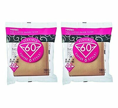 HARIO V60 VCF-02-100M Coffee Paper Filters 200 Sheets Made in Japan FREE SHIP