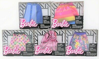 Barbie Fashions Mini Skirt Collection of 5 Outfits Dress for Doll Toy Deal