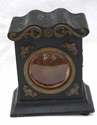 French Lacquered Black Wood Display Watch Holder 19th Century