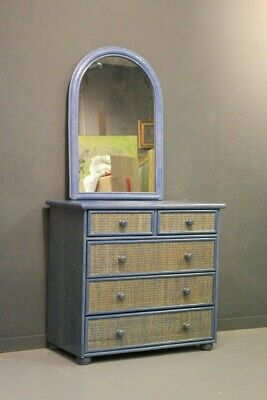 Dresser' with Dressing Table,Wooden Lacquered Trimming Wicker,Age '900 / Como '