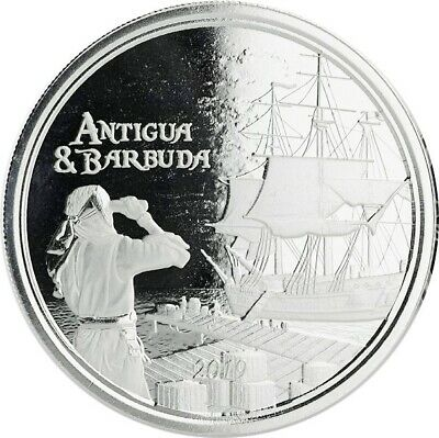 Antigua et Barbuda, 2 Dollar, Rhum Runner, 2019 EC8 1 Once Argent, 1 oz Bu