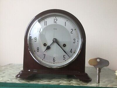 Fabulous Smiths Enfield Bakelite Striking Clock, Working With Key, Full Service
