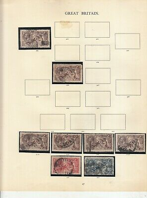 George 5Th Page Of Seahorses To 10/- Sg399-Sg417