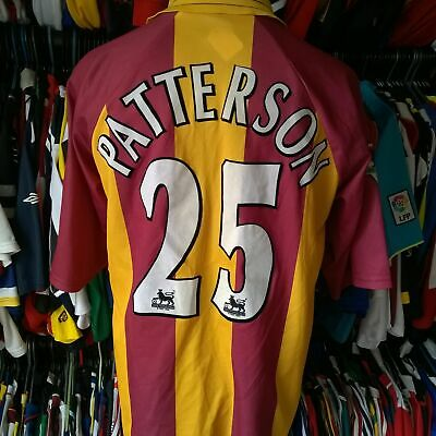 Bradford City 2000 Home Football Shirt Player Issue #25 Patterson Size Adult Xl