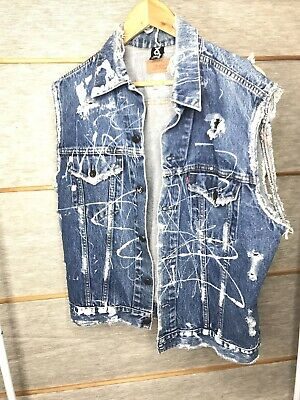 Urban Renewal Vintage Levi's Vest Distressed Trashed Boho Mens 42 Chest