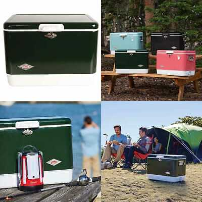 28cc0ee11 Coleman Cooler Steel Belted Keeps Ice Up To 4 Days 54 Quart For Camping  Bbqs Tai