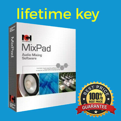 MixPad Multitrack Sound Recording / Mixing Software Masters Edition for Windows