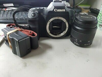 Canon EOS 40D 10.1MP Digital SLR Camera - Black  w/ 35-80mm Lens and charger)