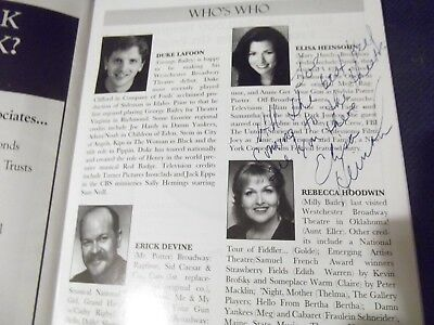 COME FROM AWAY Musical CAST SIGNED Broadway Playbill  Jenn