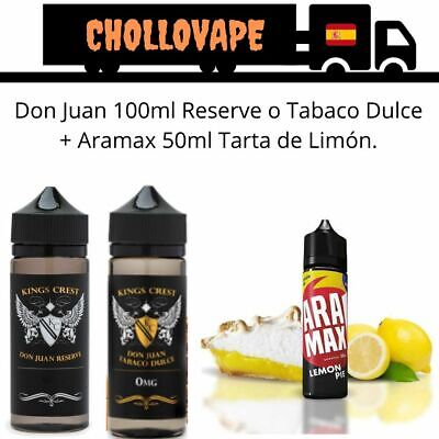 Pack Don Juan Reserve 100ml + Liquido Pastel limon y Natillas Cremosas 50ml
