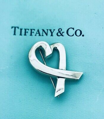 5d7e233ee014d TIFFANY & CO Paloma Picasso Loving Heart with Bow Sterling / 18K ...