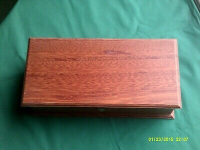 "fairly modern hardwood tea case AHMAD tea 15 1/4""x 7 1/2"" x 4 1/8"""