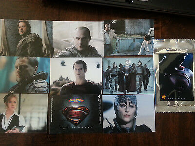 2013 Carls Jr Dc Superman Man Of Steel Movie 9 Card Complete Promo Set Unopened