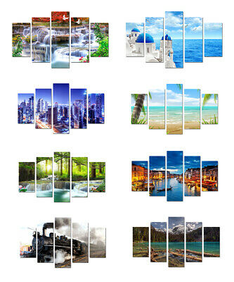 Canvas Wall Art Prints Painting Picture Home Deco Waterfall Landscape Sea Venice