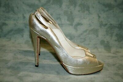 8bb094e3ea BRIAN ATWOOD METALLIC Bronze Ruched Knotted Peep Toe Pumps Shoes ...