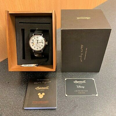 (N6) Disney Mickey Mouse Ingersoll Trenton Watch Id01202 Limited Edition 138/500