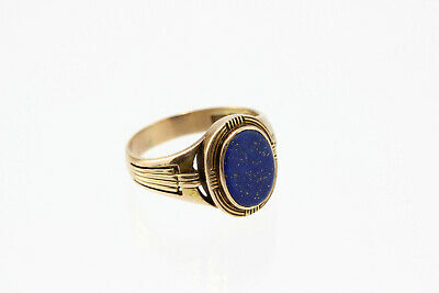 Lapislazuli-Ring 585 Gold antik alter Goldring blau antique jewelry lapis lazuli