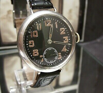 Zenith 1915 Lovely Antique Vintage Officers Ww1 Military Trench Watch Working
