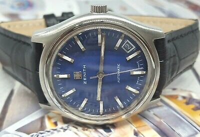 """Beautiful!! Vintage Swiss """"Zenith Date On 5"""" Auto Watch!..No Reserve Auction!"""