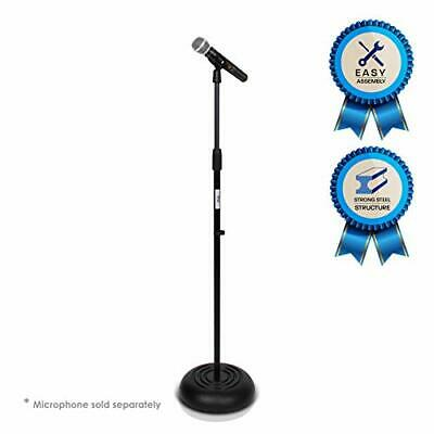 Microphone Stand - Universal Mic Mount with Heavy Compact Base, Height