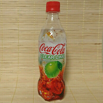 Japan Coca Cola CLEAR LIME Japanese Summer Soda Pop Full Bottle Limited Edition